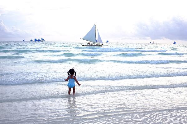 Katy in Boracay