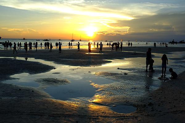 Sunset Boracay Lowtide