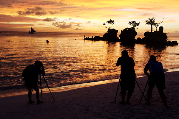Boracay Tripods during Sunset