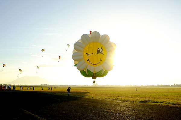 Sunflower hotair balloon at Clark Pampanga