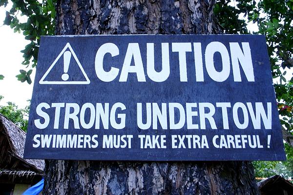 Palawan Sign Undertow